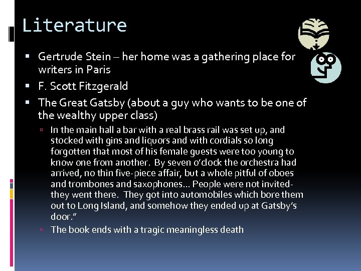 Literature Gertrude Stein – her home was a gathering place for writers in Paris