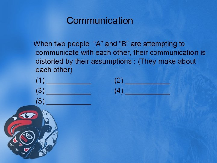 """Communication When two people """"A"""" and """"B"""" are attempting to communicate with each other,"""