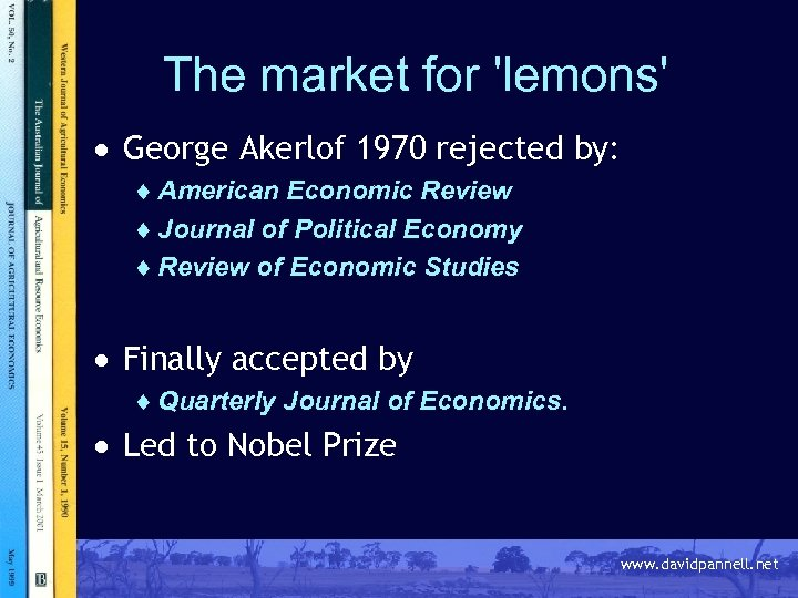 akerlof the market for lemons summary A market for lemons slideshare uses cookies to improve functionality and performance, and to provide you with relevant advertising if you continue browsing the site, you agree to the use of cookies on this website.