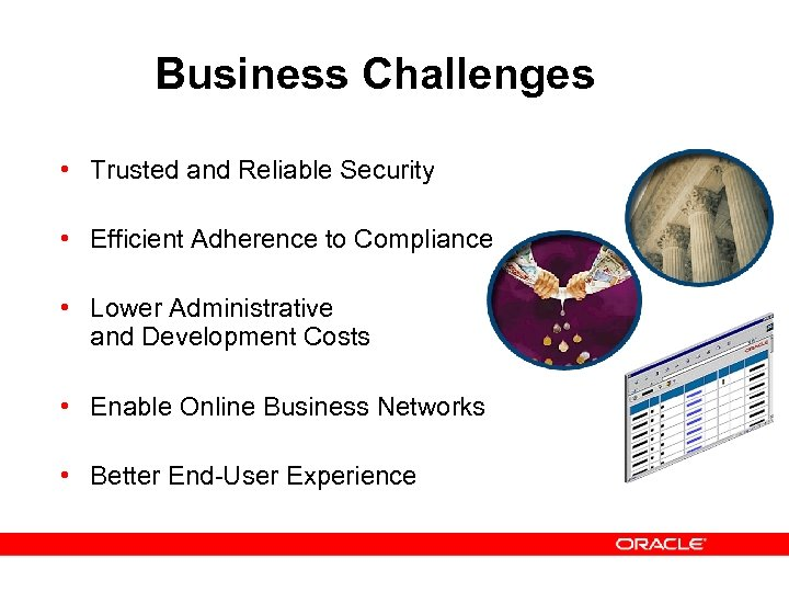 Business Challenges • Trusted and Reliable Security • Efficient Adherence to Compliance • Lower