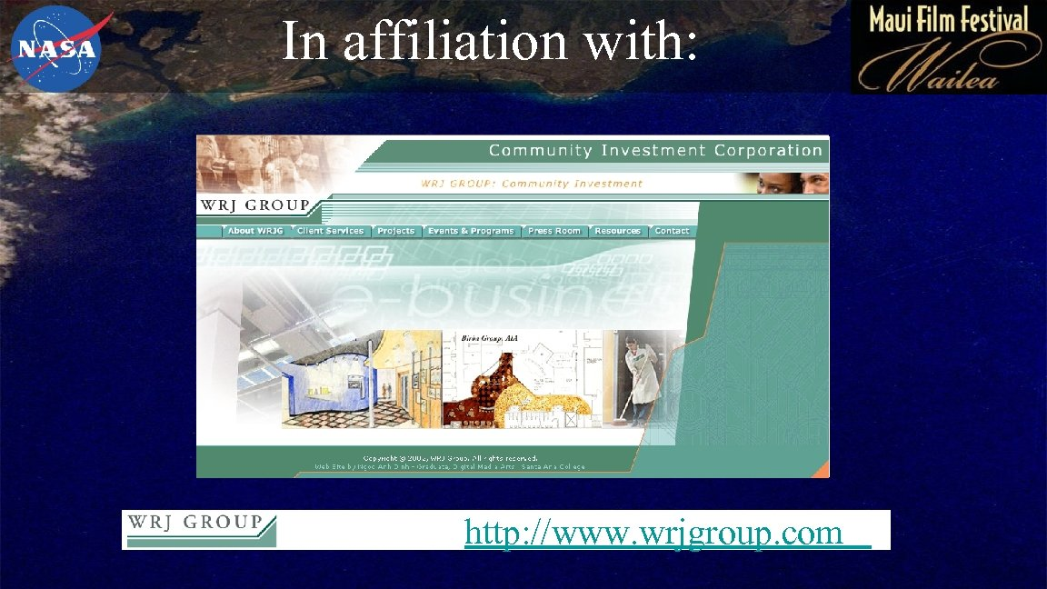 In affiliation with: http: //www. wrjgroup. com