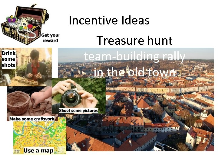 Incentive Ideas Treasure hunt team-building rally in the old town