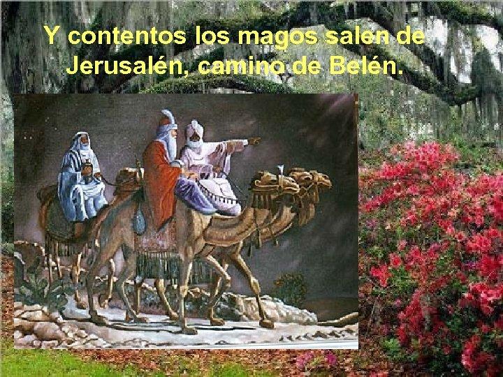 Y contentos los magos salen de Jerusalén, camino de Belén.