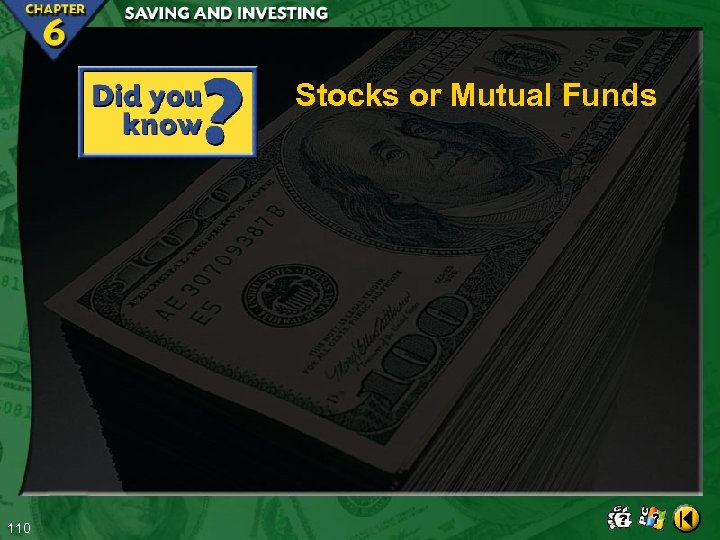 Stocks or Mutual Funds 110