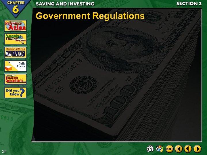 Government Regulations 35