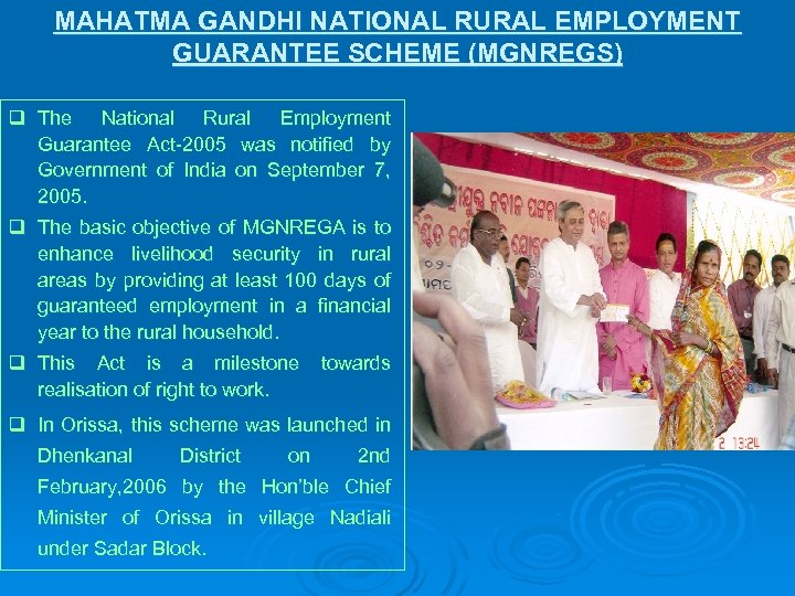 mgnregamahatma gandhi national rural employment guarantee act Home » government of india » mahatma gandhi national rural employment guarantee act (mnrega) mahatma gandhi nrega aims to build a productive asset base for the rural poor through wage employment and strengthen the livelihood opportunities for the.