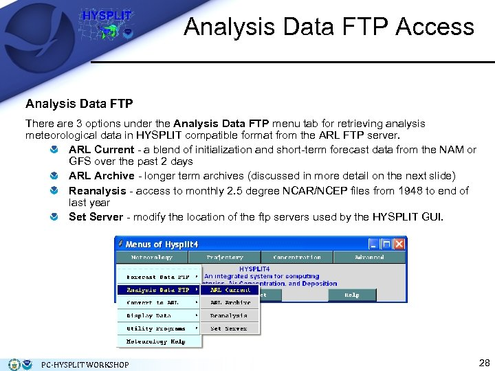 Analysis Data FTP Access Analysis Data FTP There are 3 options under the Analysis