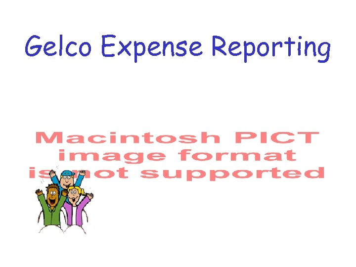 Gelco Expense Reporting