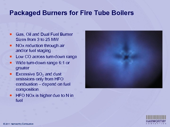 Packaged Burners for Fire Tube Boilers ¡ Gas, Oil and Dual Fuel Burner Sizes