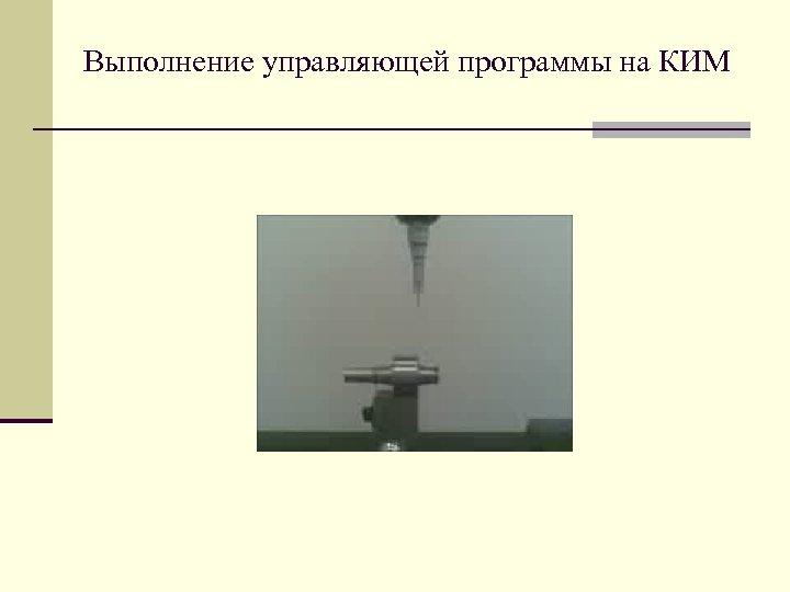 Выполнение управляющей программы на КИМ
