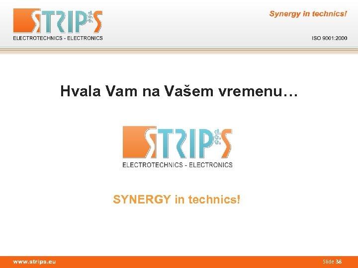 Hvala Vam na Vašem vremenu… SYNERGY in technics! Slide 38