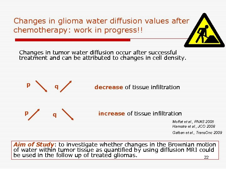 Changes in glioma water diffusion values after chemotherapy: work in progress!! Changes in tumor