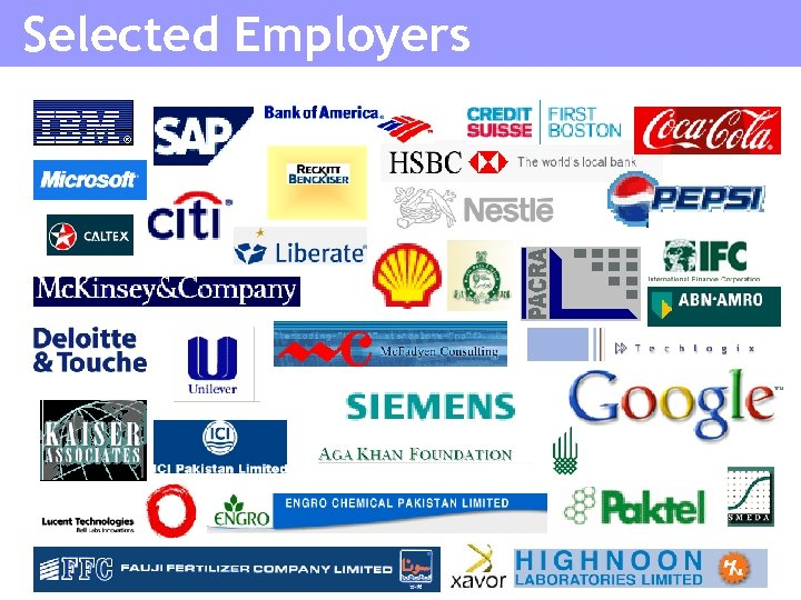 Selected Employers