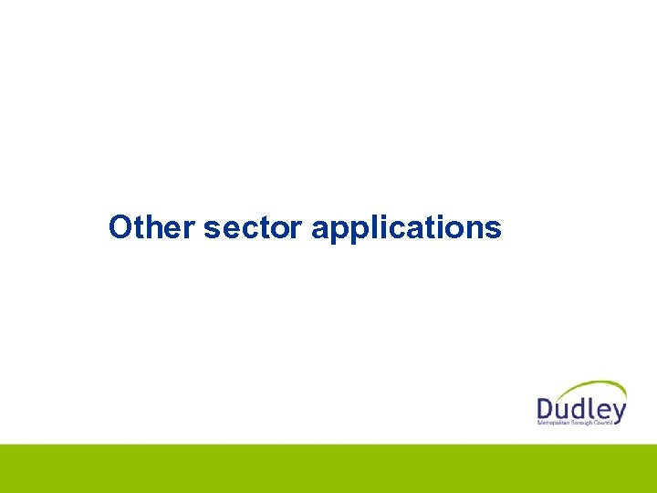 Other sector applications