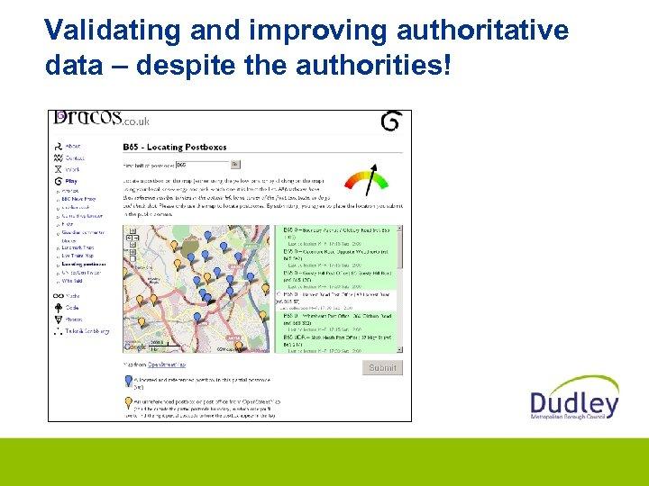 Validating and improving authoritative data – despite the authorities!