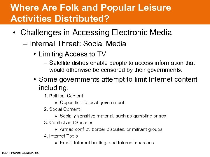 Where Are Folk and Popular Leisure Activities Distributed? • Challenges in Accessing Electronic Media