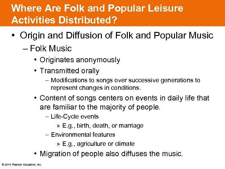 Where Are Folk and Popular Leisure Activities Distributed? • Origin and Diffusion of Folk