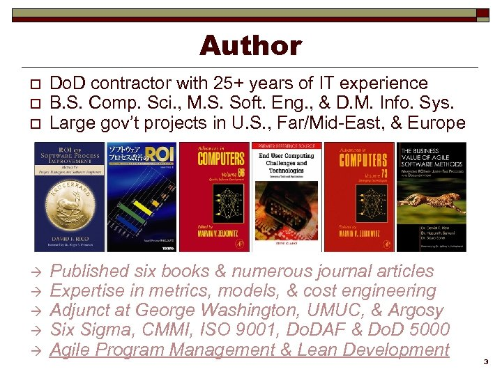 Author o o o à à à Do. D contractor with 25+ years of
