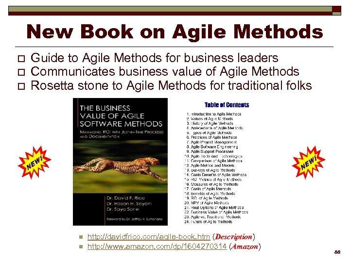 New Book on Agile Methods o o o Guide to Agile Methods for business