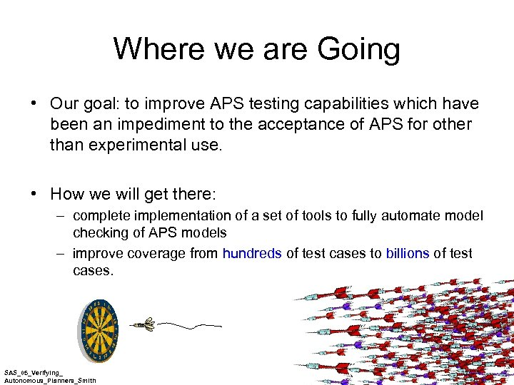 Where we are Going • Our goal: to improve APS testing capabilities which have
