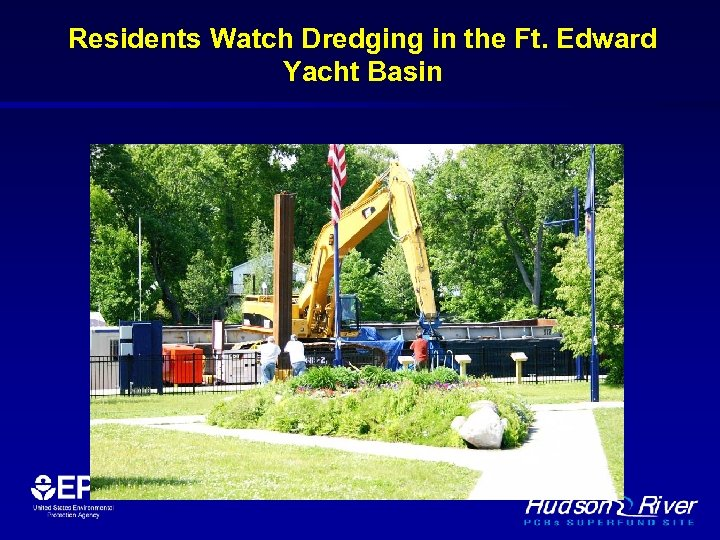Residents Watch Dredging in the Ft. Edward Yacht Basin