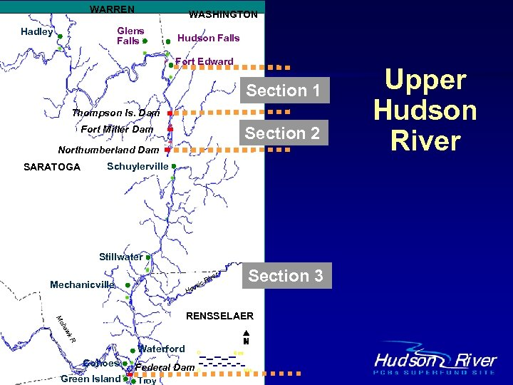 WARREN WASHINGTON Glens Falls Hadley Hudson Falls Bakers Falls Fort Edward Section 1 Thompson