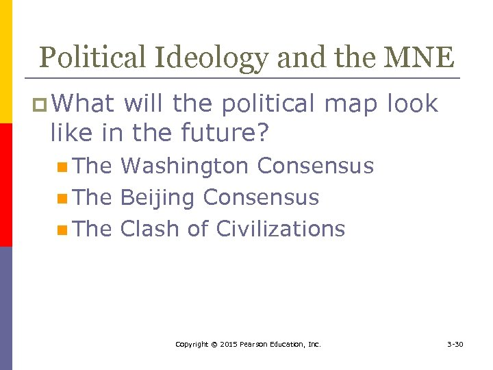 Political Ideology and the MNE p What will the political map look like in