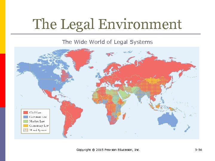 The Legal Environment The Wide World of Legal Systems Copyright © 2015 Pearson Education,