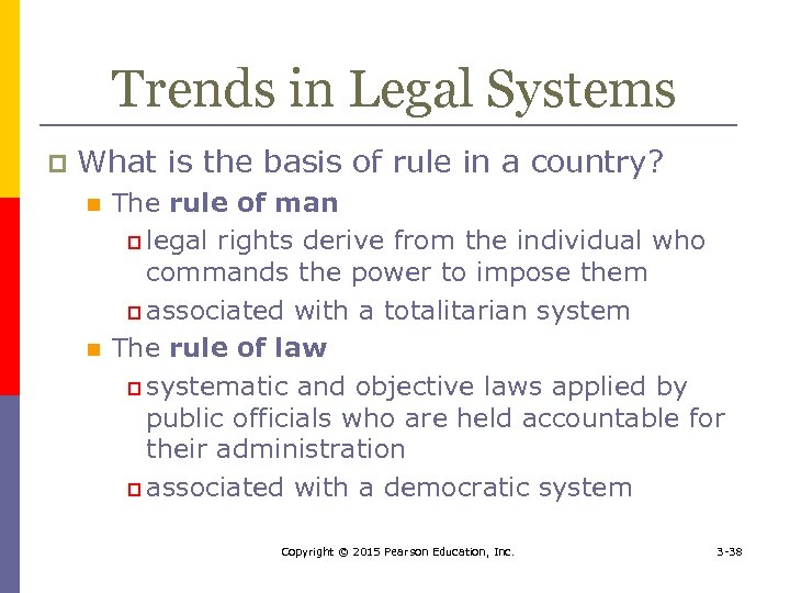 Trends in Legal Systems p What is the basis of rule in a country?