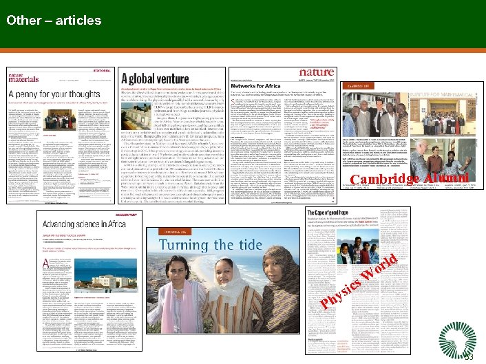 Other – articles Cambridge Alumni ld sic y Ph or s. W 53