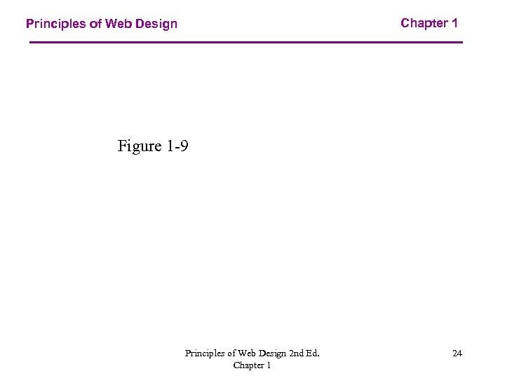 Chapter 1 Principles of Web Design Figure 1 -9 Principles of Web Design 2