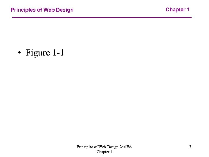 Chapter 1 Principles of Web Design • Figure 1 -1 Principles of Web Design