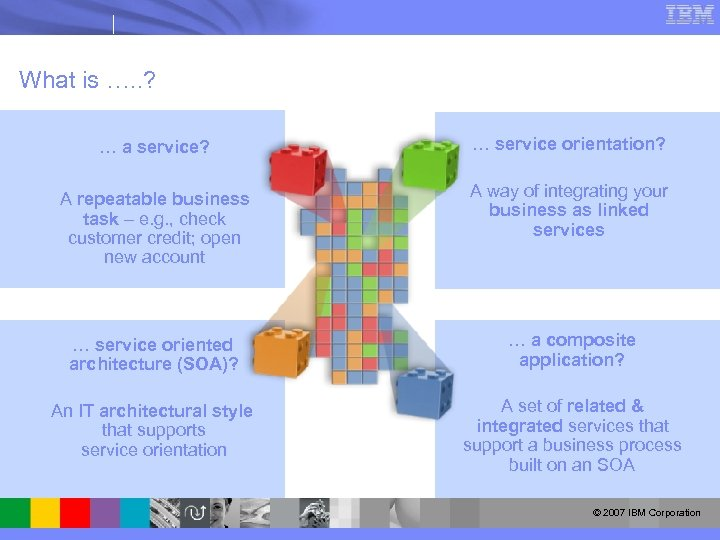 What is …. . ? … a service? … service orientation? A repeatable business