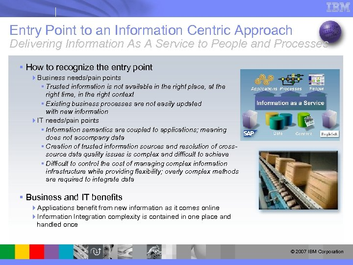 Entry Point to an Information Centric Approach Delivering Information As A Service to People
