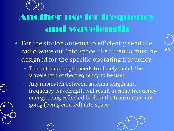 INTRODUCTION TO RADIO Keywords