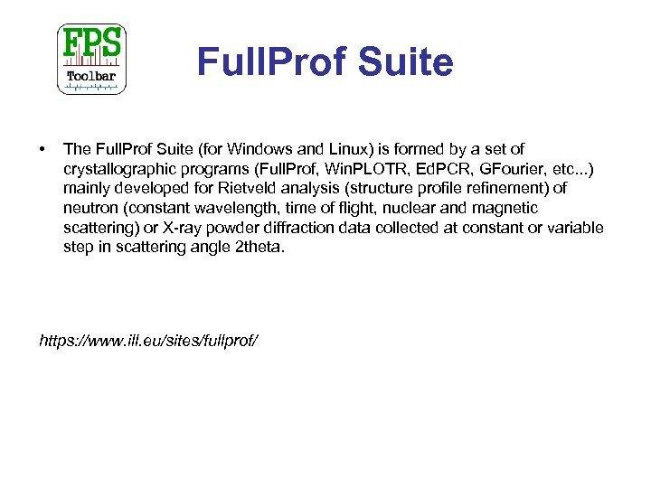 Full. Prof Suite • The Full. Prof Suite (for Windows and Linux) is formed