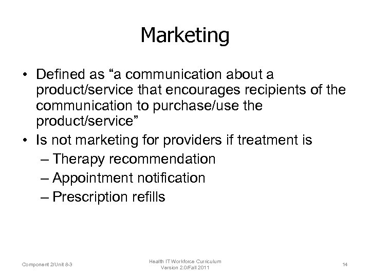 """Marketing • Defined as """"a communication about a product/service that encourages recipients of the"""