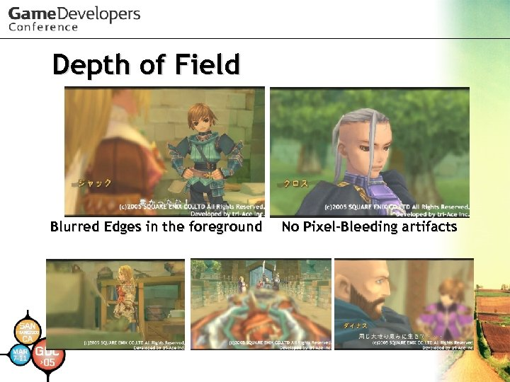Depth of Field Blurred Edges in the foreground No Pixel-Bleeding artifacts