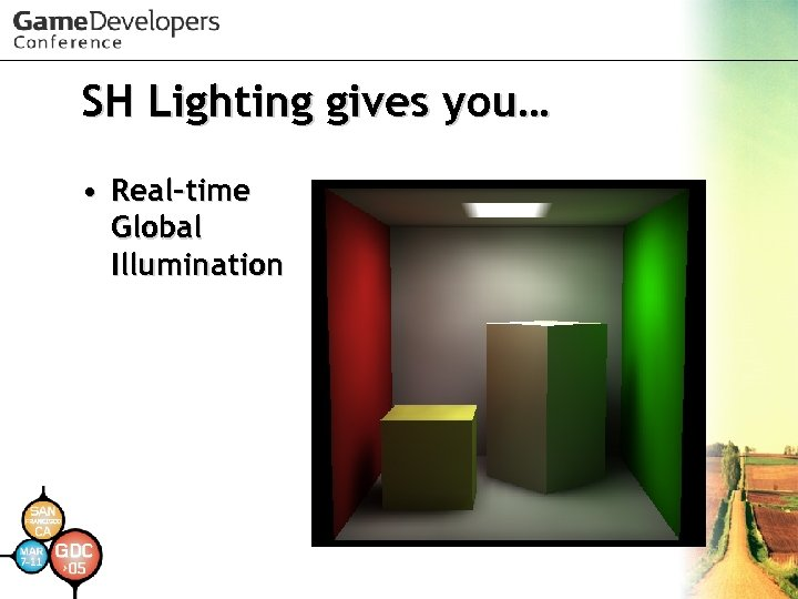 SH Lighting gives you… • Real-time Global Illumination