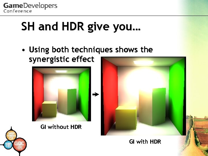 SH and HDR give you… • Using both techniques shows the synergistic effect GI