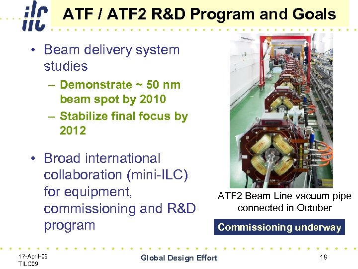 ATF / ATF 2 R&D Program and Goals • Beam delivery system studies –