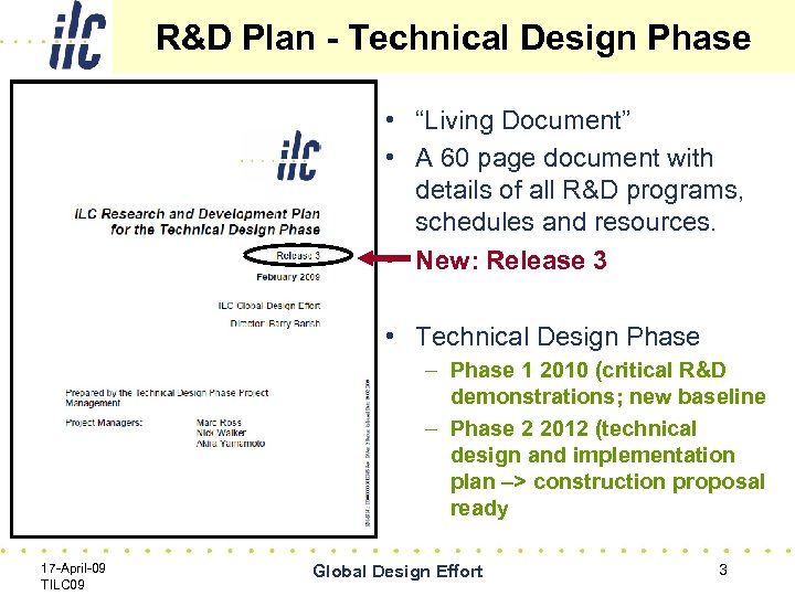 "R&D Plan - Technical Design Phase • ""Living Document"" • A 60 page document"