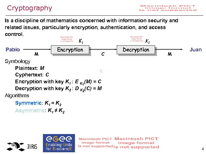 Cryptography Is a discipline of mathematics concerned with information security and related issues, particularly