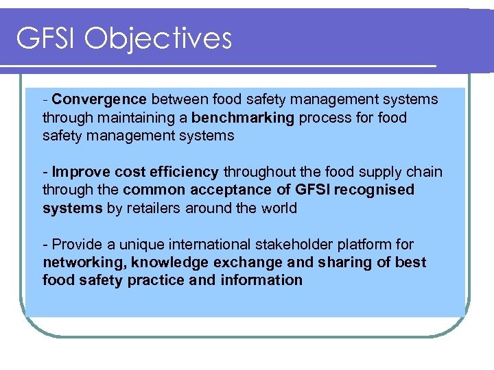 Global Food Safety Initiative Joint UNCTAD WTO Informal Information