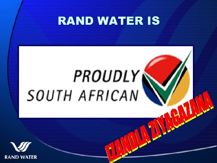 RAND WATER IS