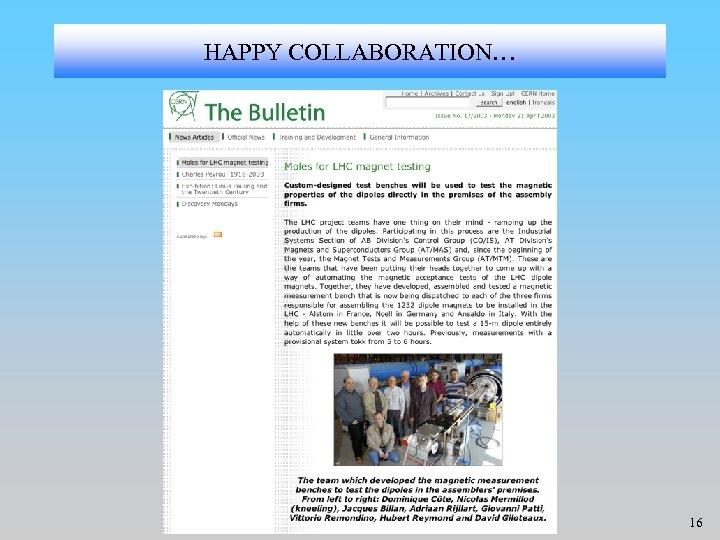 HAPPY COLLABORATION… 16