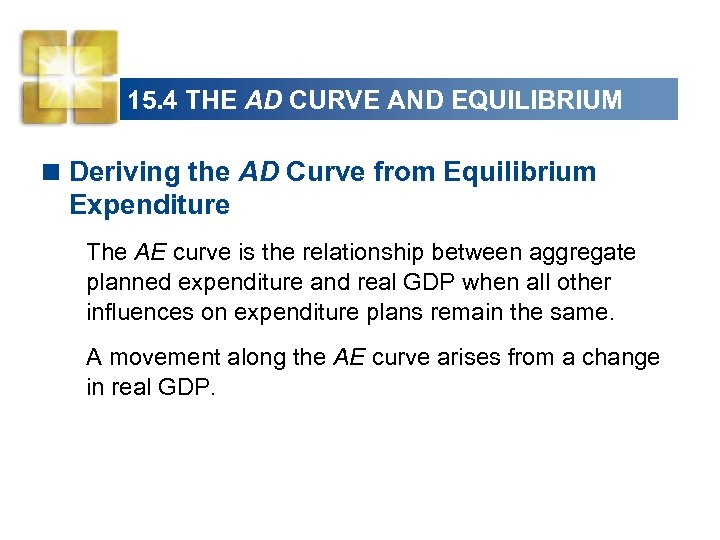 15. 4 THE AD CURVE AND EQUILIBRIUM < Deriving the AD Curve from Equilibrium