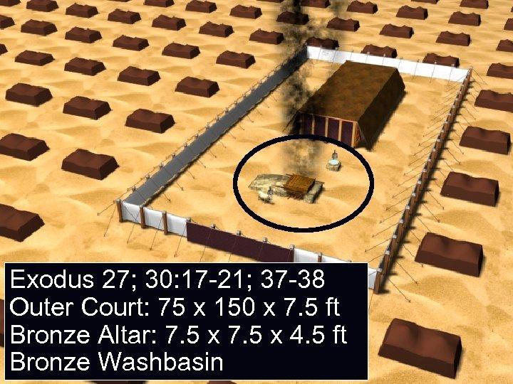 Exodus 27; 30: 17 -21; 37 -38 Outer Court: 75 x 150 x 7.