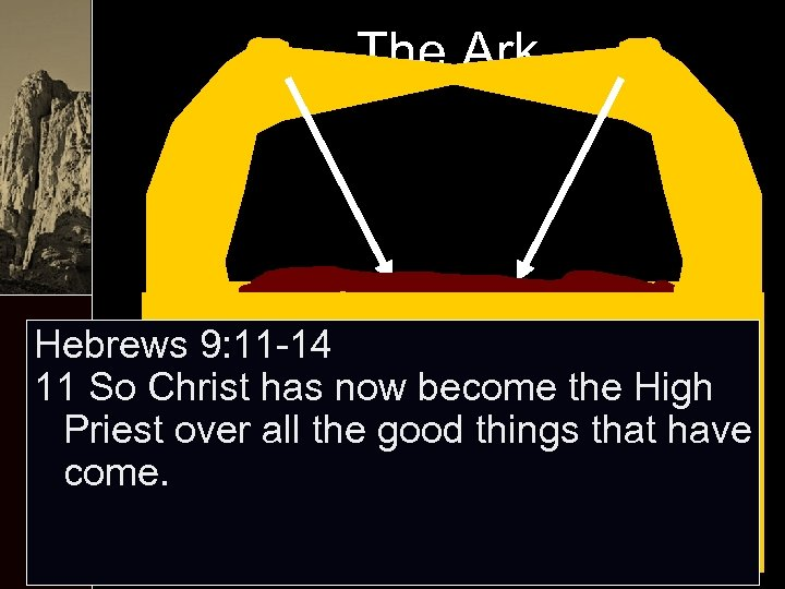 The Ark Hebrews 9: 11 -14 11 So Christ has now become the High