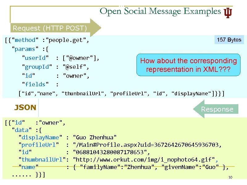 Open Social Message Examples Request (HTTP POST) 157 Bytes [{